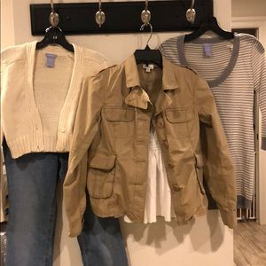Maternity Jeans, Jacket, Sweater & 2 Blouses